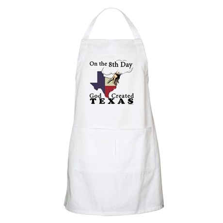 On the 8th Day God Created Texas BBQ Apron