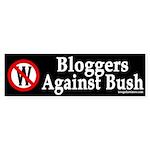 Bloggers Against Bush (bumper sticker)