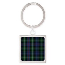 MacKenzie Tartan Shower Curtain Square Keychain