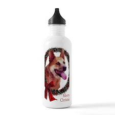 Red Heeler Christmas Water Bottle