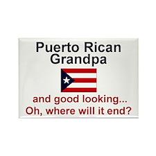 Puerto Rican Grandpa-Good Lkg Rectangle Magnet