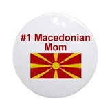 #1 Macedonian Mom Ornament (Round)
