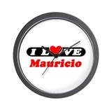 I Love Mauricio Wall Clock