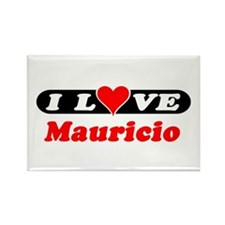 I Love Mauricio Rectangle Magnet