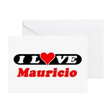 I Love Mauricio Greeting Cards (Pk of 10)