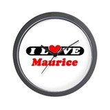 I Love Maurice Wall Clock