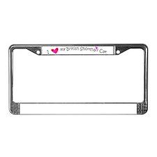 british shorthair cat License Plate Frame