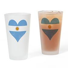 El Corazon de Argentina Drinking Glass