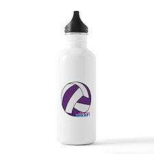 Purple Volleyball Sports Water Bottle