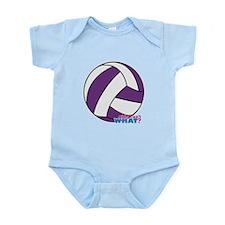 Purple Volleyball Infant Bodysuit