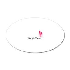 Little Ballerina 20x12 Oval Wall Decal