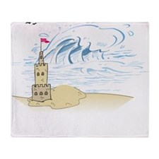 Sand Castle Throw Blanket