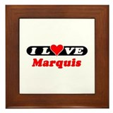 I Love Marquis Framed Tile