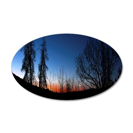 Colorado Sunset 35x21 Oval Wall Decal