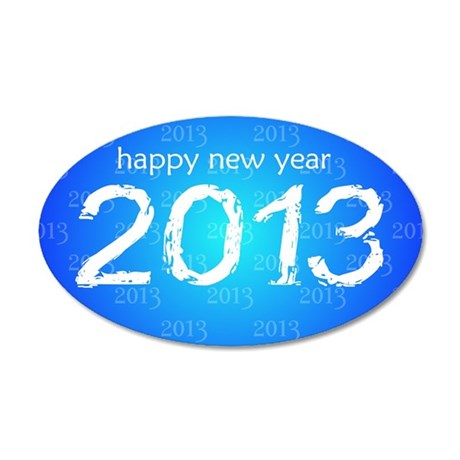 Happy New Year 35x21 Oval Wall Decal