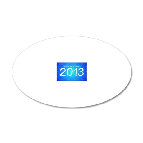 Happy New Year 20x12 Oval Wall Decal