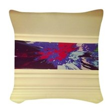 The other Damien Hirst spin ar Woven Throw Pillow
