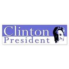 Clinton: President (bumper sticker)