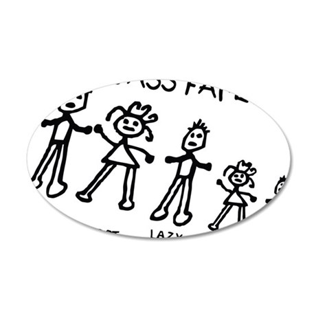 The ass family 35x21 Oval Wall Decal