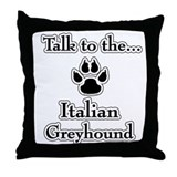 Iggy Talk Throw Pillow