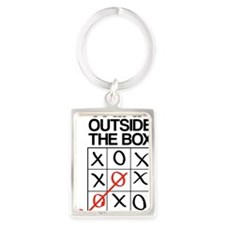 Think outside the box Portrait Keychain