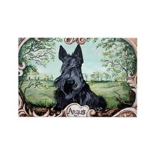 Scottish Terrier Angus Rectangle Magnet