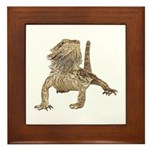 Bearded Dragon Photo Framed Tile