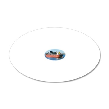 Salt water ship Emile gets a 20x12 Oval Wall Decal