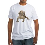 Bearded Dragon Photo Fitted T-Shirt