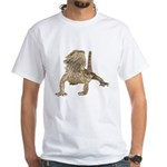 Bearded Dragon Photo White T-Shirt