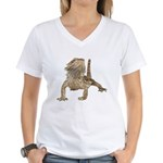 Bearded Dragon Photo Women's V-Neck T-Shirt