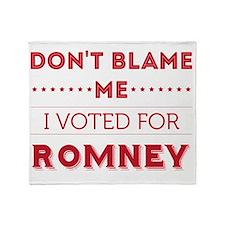 dontblame_FINAL_romney Throw Blanket