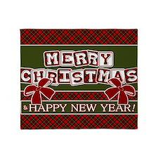 Very Plaid Christmas Throw Blanket