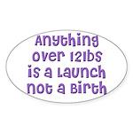 The 'Stretch' Oval Sticker