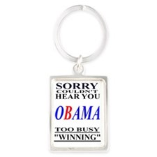 Obama WINNING2 Portrait Keychain
