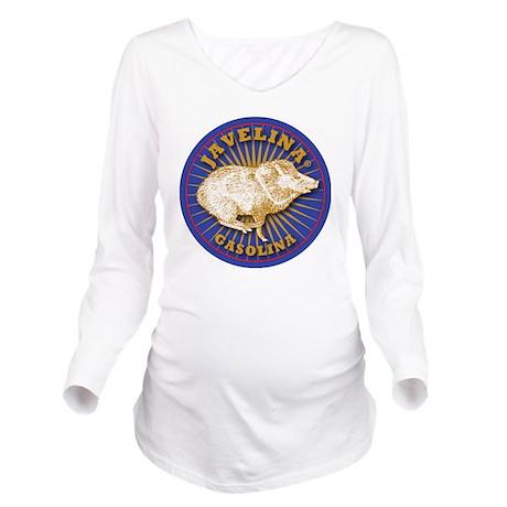 Javelina Gasolina Long Sleeve Maternity T-Shirt