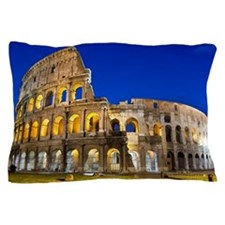 Rome - Colosseum At Dusk Pillow Case