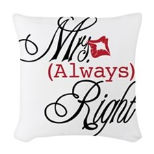 Mrs. Always Right Woven Throw Pillow