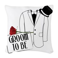 Groom To Be Woven Throw Pillow