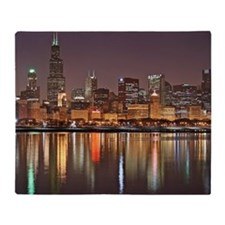 Chicago Reflected Throw Blanket
