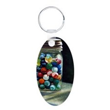 Jar of marbles Keychains