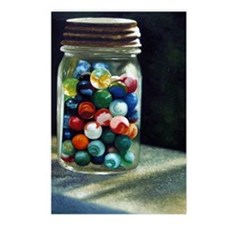 Jar of marbles Postcards (Package of 8)