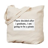 "NEW! Plain ""Pirate""  Tote Bag"