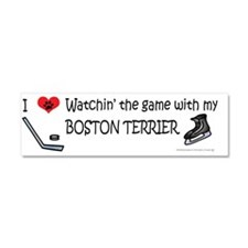 boston terrier Car Magnet 10 x 3