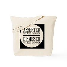 withoutevidencebutton Tote Bag