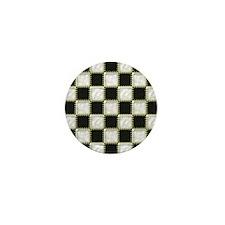 Patchwork black and white Mini Button