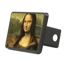Mona Lisa Face Rectangular Hitch Cover