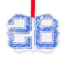 28, Blue, Vintage Ornament