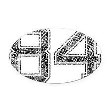 84, Vintage Oval Car Magnet