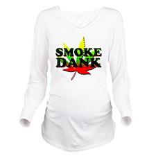 SMOKE DANK Long Sleeve Maternity T-Shirt